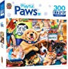 MasterPieces Playful Paws Puppy Party EZ Grip Jigsaw Puzzle, Art by Jenny Newland, 300-Piece