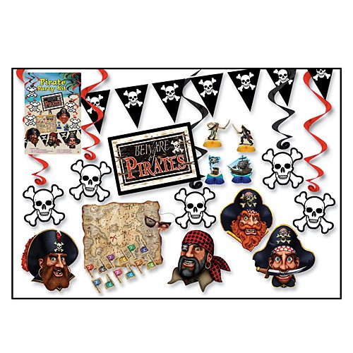 Beistle 55026 16-Piece Pirate Party Kit ()