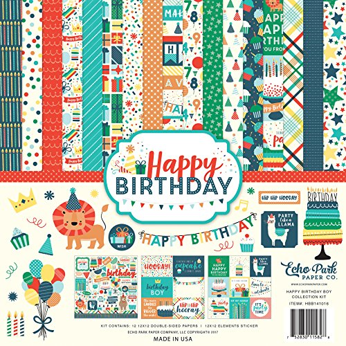 Happy Birthday Scrapbooking - Echo Park Paper Company Happy Birthday Boy Collection Kit