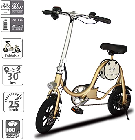 Bicicleta electrónica plegable clásica ligera de aluminio Cycle ...