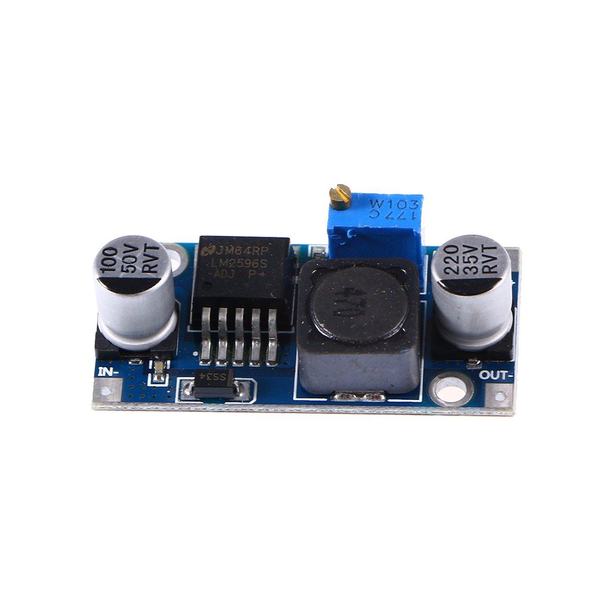 5 m/ódulos Regulador de tensi/ón LM2596/DC-DC 1.23 Convertidor Step-Down 30V Winomo