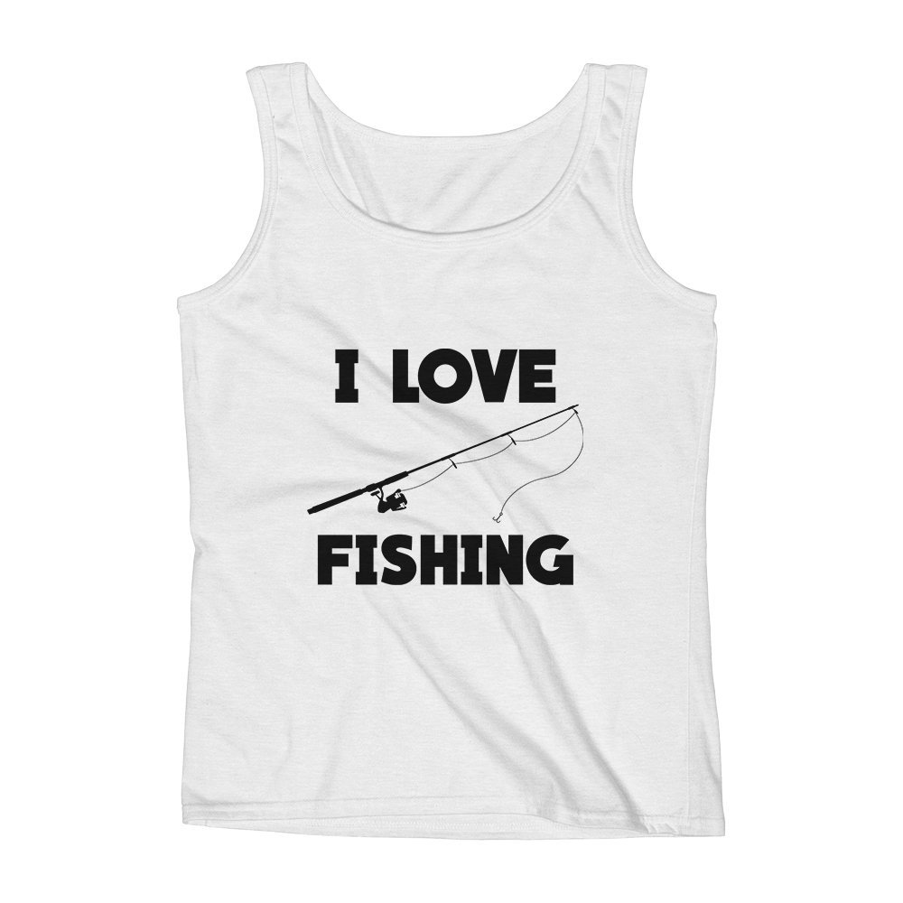 Mad Over Shirts I Love Fishing Weekend Sport Leisure Activity Unisex Premium Tank Top