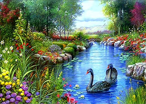 5D Swan DIY Cross Stitch Painting Sticker Pasted Gift - 9