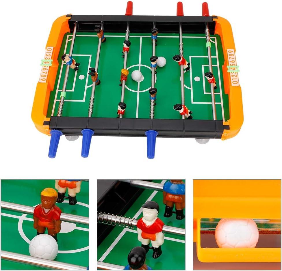 Qinlorgon Juego de Mesa de fútbol, Juego portátil de Pelotas de futbolín Mini Juego de Accesorios de fútbol de Mesa de futbolín para Sala de Juegos Bar Playground: Amazon.es: Juguetes y juegos