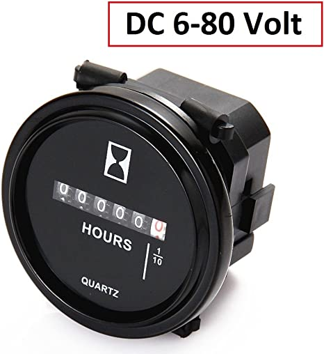 Amazon.com: searon 12 V 24 V 36 V 48 V 60 V 72 V Hour Meter ...