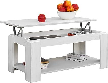 Comprar COMIFORT Mesa de Centro Elevable - Mueble con Revistero, Gran Almacenaje, Estilo Moderno, Muy Resistente, Fabricada en Europa, Color Nordic
