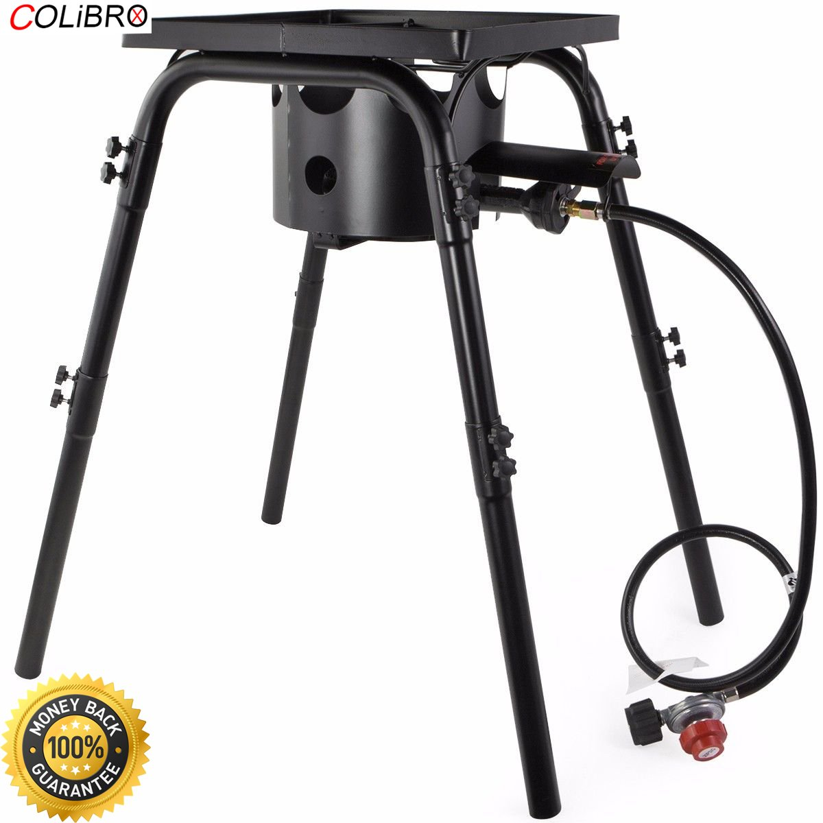COLIBROX-- High pressure lpg Gas Stove Stand Burner Portable Propane Camping bbq Cooker UL high pressure Gas Stove Tabletop Propane Gas Heavy-duty Cooker