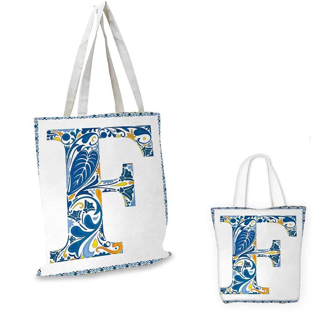 アルファベット文字、ポルトガルタイル、花のアレンジメント カラフルな芸術的なデザイン ブルー イエロー オレンジ。 16