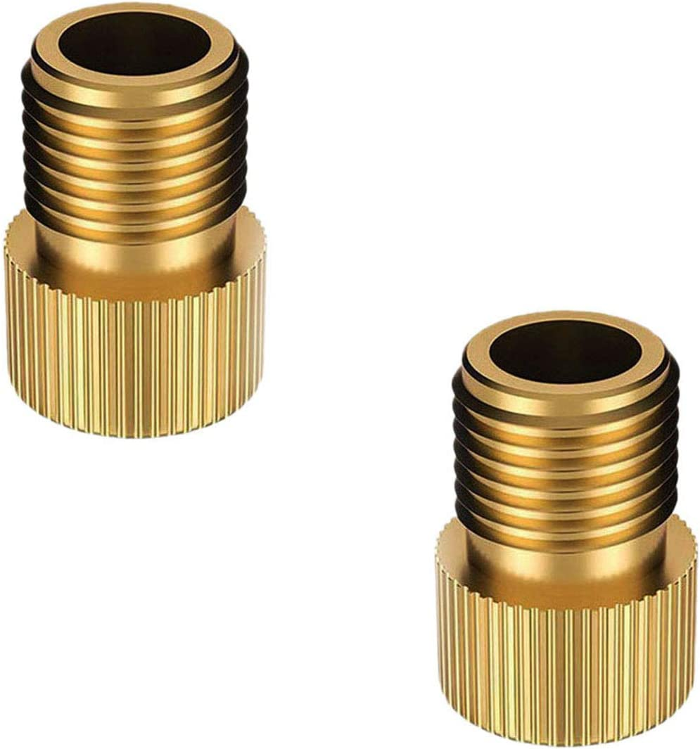 2pcs Presta to Schrader Brass Bicycle Valve Adaptor Adapter Converter
