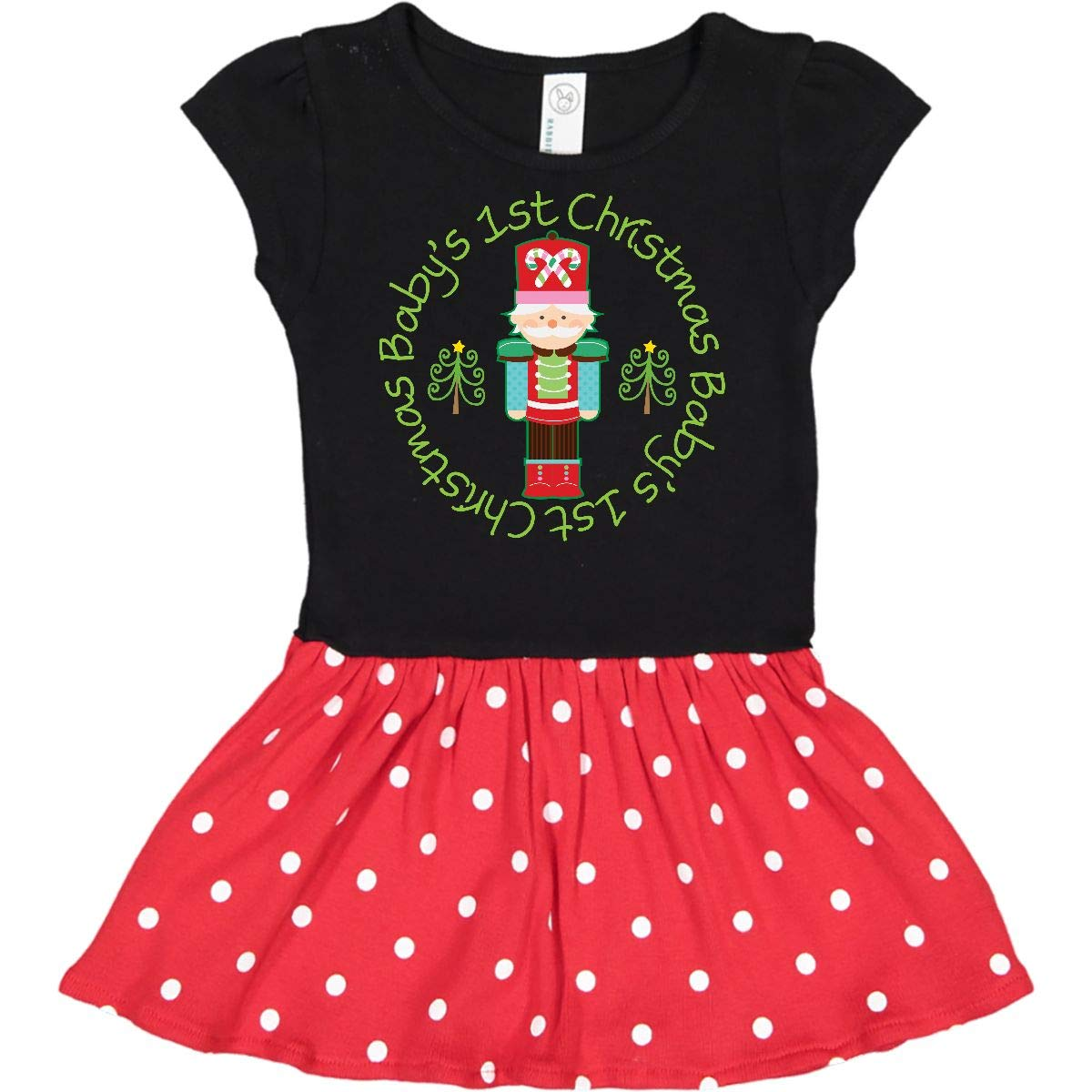 0f504260310d Amazon.com: inktastic - Nutcracker First Christmas Baby Gift Toddler Dress  204c5: Clothing