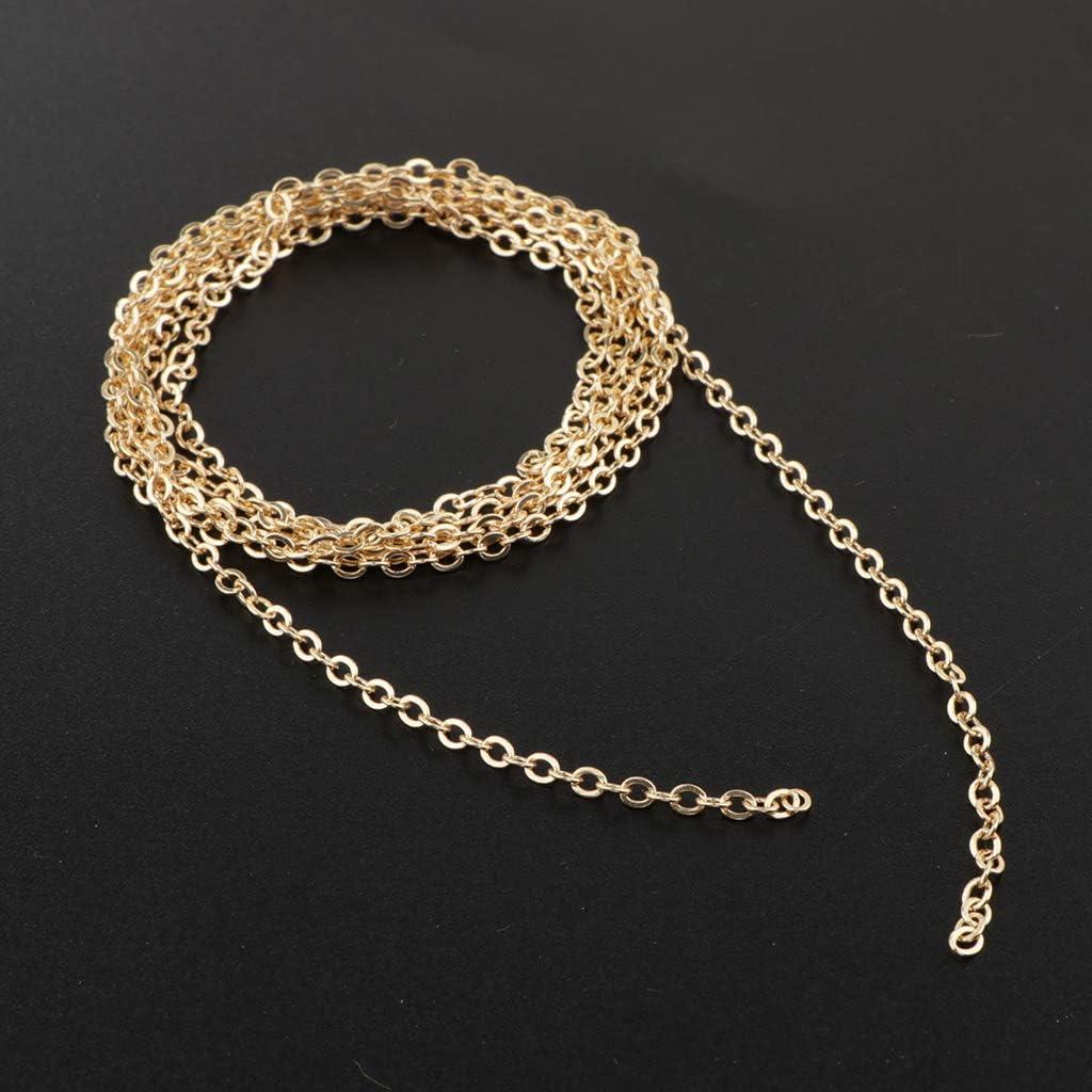 IPOTCH 1 M/ètre C/âble Cha/îne Lien Faire des Bijoux Accessoires De La Cha/îne 3mm Or 3mm
