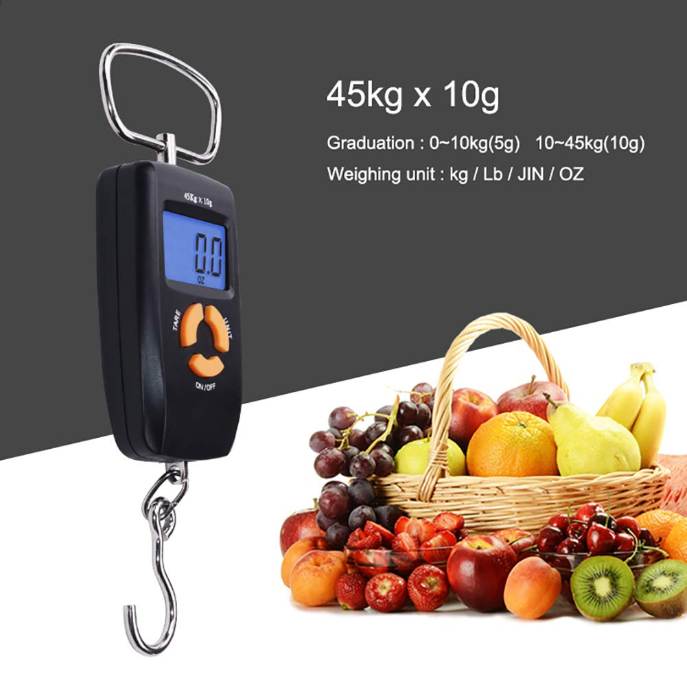 ZDYLM-Y Digital Luggage Scale with Backlit LCD Display and Comfortable Handle Large Hook, for Travel