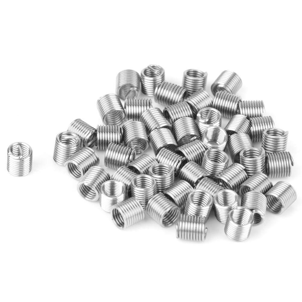 Kit di riparazione per filettature 50 pezzi M3 x 2D Kit di utensili per viti combinate con filettatura in acciaio inossidabile per risistemazione di fili danneggiati in acciaio alluminio ferro