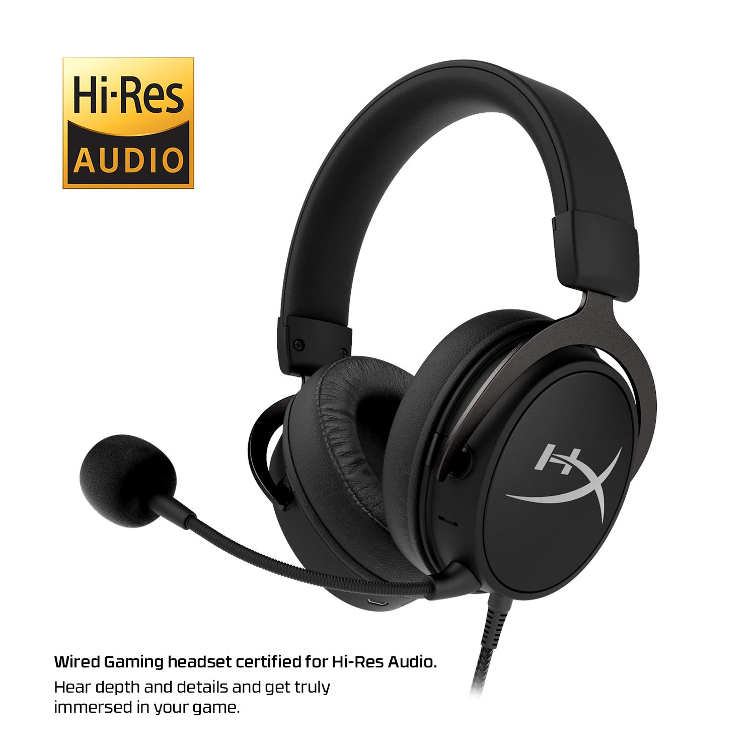 HyperX Cloud Mix Wired Gaming Headset + Bluetooth Option - Game and Go - Detachable Microphone - Signature Comfort - Lightweight - Multi Platform Compatible (HX-HSCAM-GM) by HyperX