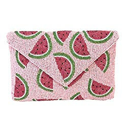 Watermelon Beaded Convertible Clutch