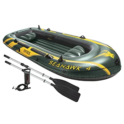 Intex Seahawk 4, 4-Person Inflatable Boat Set