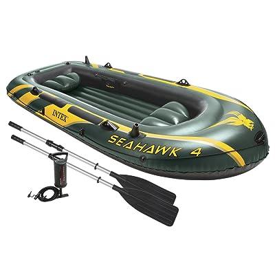 Ensemble de bateau gonflable Intex Seahawk 4, 4 personnes