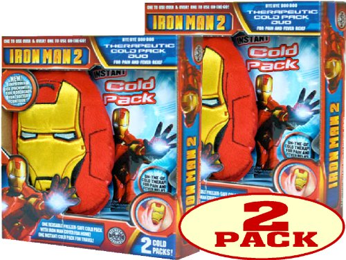 UPC 030022000306, Iron Man Bye-Bye Boo-Boo Therapeutic Ice Pack Duo For Pain & Fever Relief (Pack of 2)