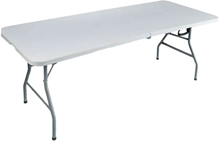 Mesa plegable rectangular 240 x 76 x 74 cm: Amazon.es: Jardín