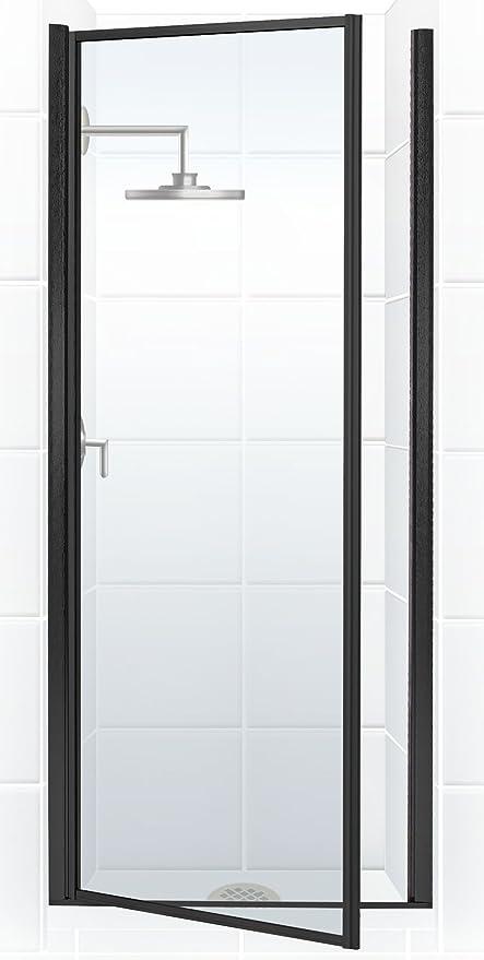 Coastal Shower Doors Legend Series Framed Hinge Shower Door In Clear ...