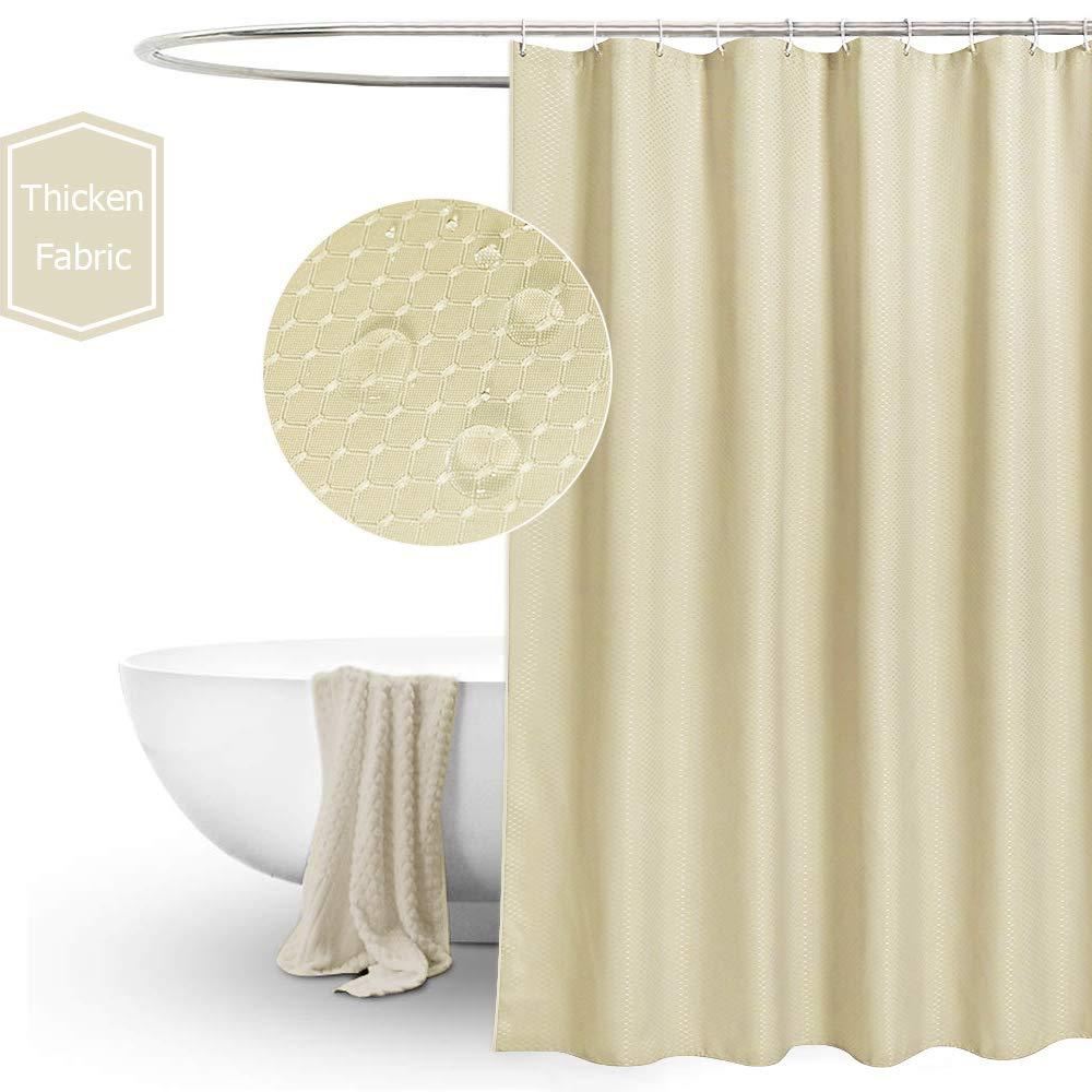 Stripe EurCross Grey Shower Curtain 72x72 inch Elegant Fabric Water Repellent Shower Curtain Mildew Resistant with Rust Proof Metal Grommets