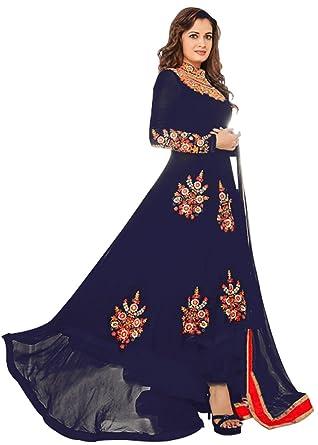 Designer Deck Graceful Floor Length Dress - Stylish Semistitched One ...