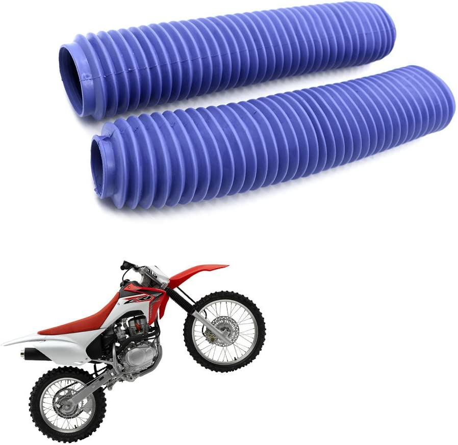 Dirt Bike Off-Road Front Fork Anti-Dust Cover Gaiter Boots For CRF XR YZ WR TTR KLR KX KLX DR RMX RMZ Enduro FC TE FE EXC XC-W XCF-W EXC-F Red