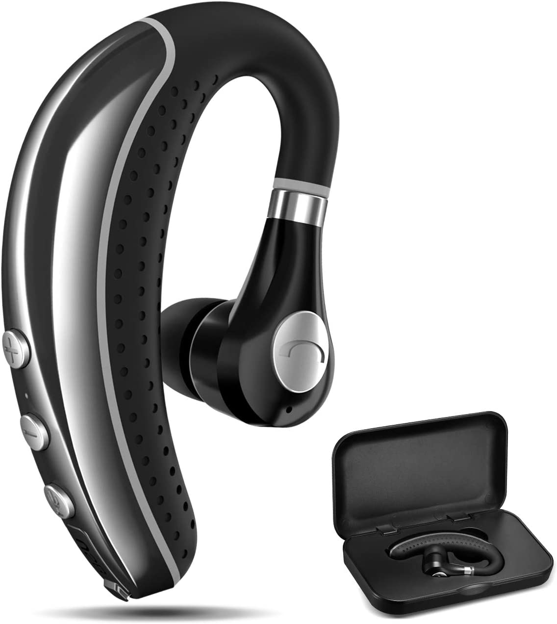 Amazon Com Bluetooth Headset Comexion V5 0 Bluetooth Earpiece With Mic And Mute Key Wireless Noise Reduction Business Earphone For Driving Meeting Listening