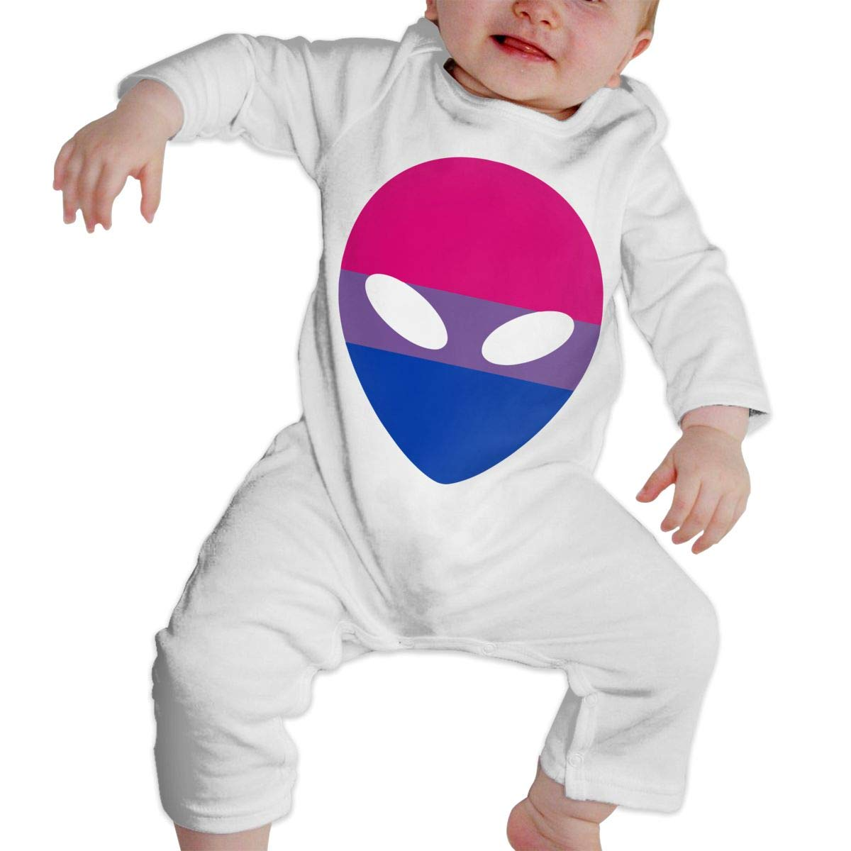 A1BY-5US Baby Infant Toddler Cotton Long Sleeve Bisexual Alien Climb Romper One-Piece Romper Clothes