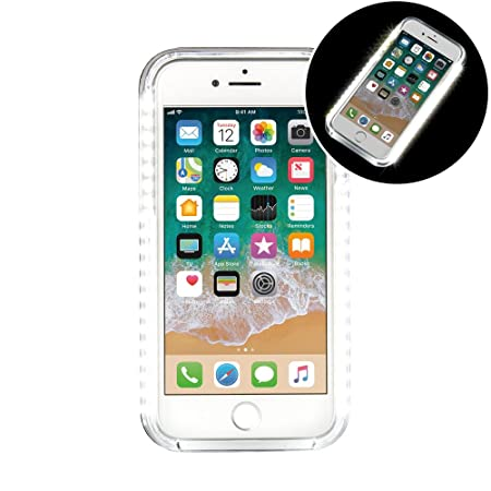 pretty nice e04ee a9126 iPhone 7 Plus LED Selfie White Light Up Dimmable and Strobe Case ...