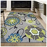 Superior Lana Collection, 6mm Pile Height with Jute Backing, Quality and Affordable Area Rugs, 4' x 6' Grey