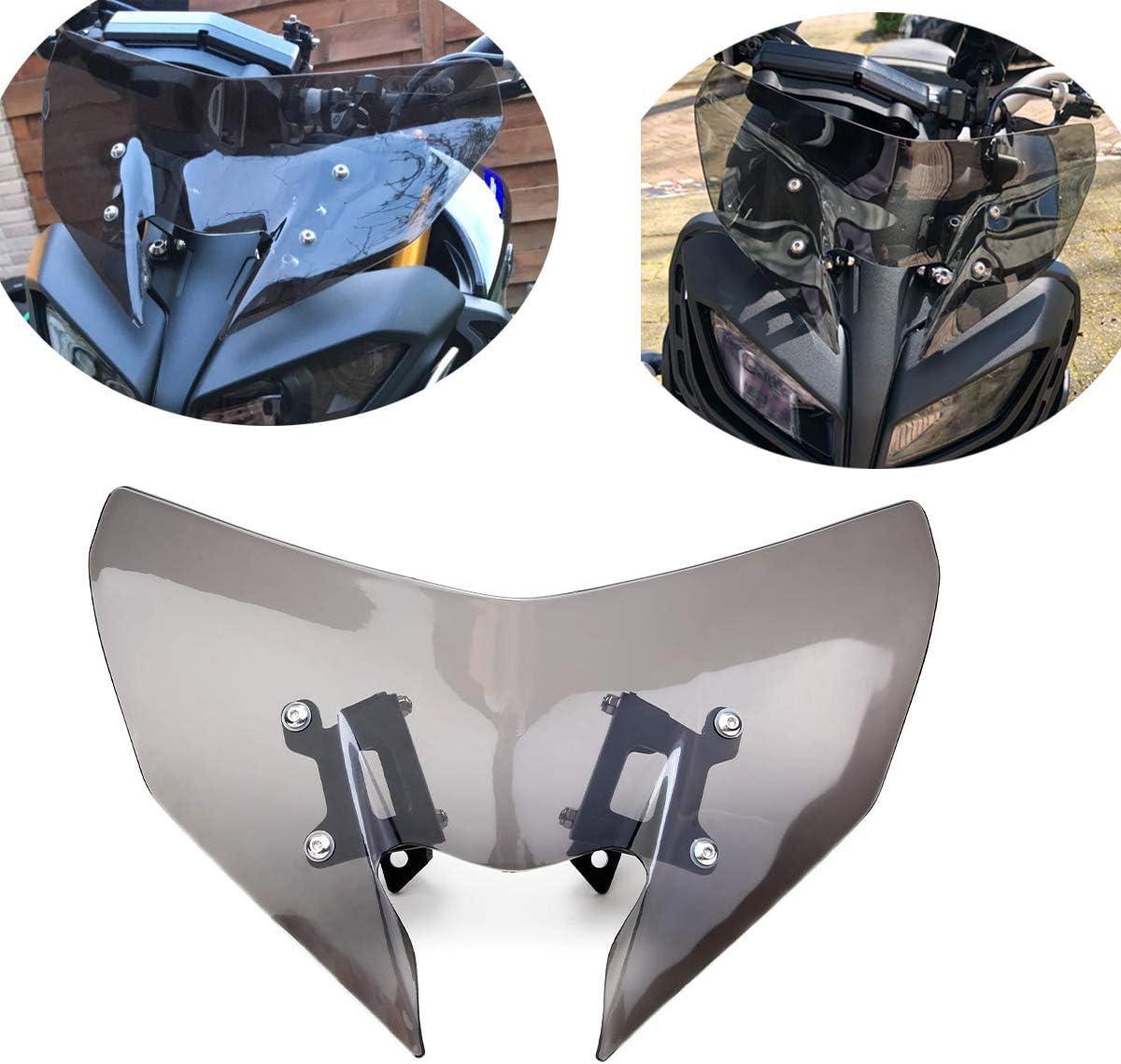 Mt09 Mt 09 Windschild Motorrad Windschutzscheibe Verkleidungsscheibe Besseren Windschutz Für Schutz Des Kühlers Kompatibel Mit Mt 09 Mt09 Mt 09 Fz09 Fz 09 2017 2019 Auto