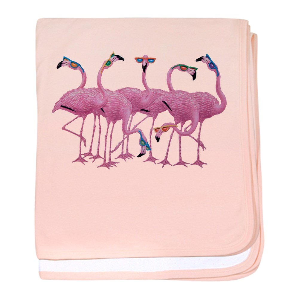Royal Lion Baby Blanket Cool Flamingos with Sunglasses - Petal Pink