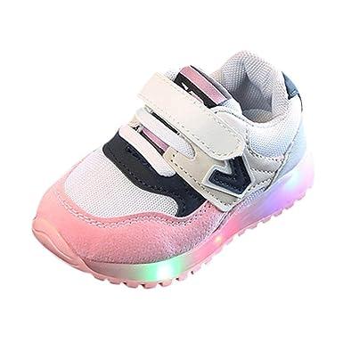 Zapatillas para Niños LED Lights,ZARLLE Zapatos de bebé Cuna Suela Blanda Antideslizante Zapatillas Niño Vestir Casual Calzado de Deportes Zapatos de ...