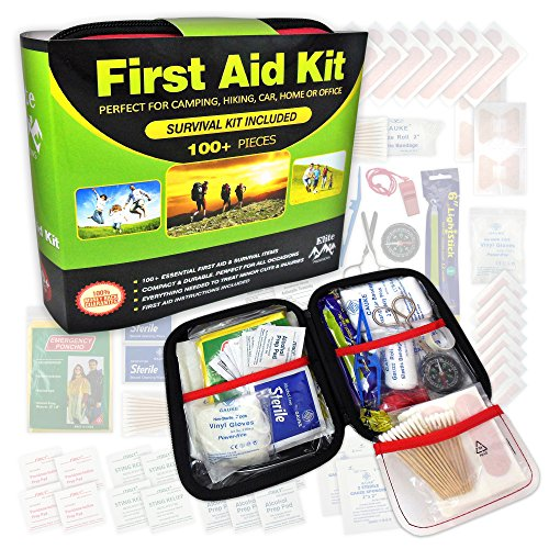 Elite-Provisions-First-Aid-Kit-102-Items-for-Emergency-Survival-Camping-Hiking-Home-Travel-Car-Outdoor-Sports-Compact-Easy-Storage-Case