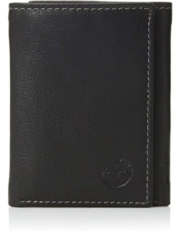 c809cfa58 Timberland Mens Leather Trifold Wallet With ID Window