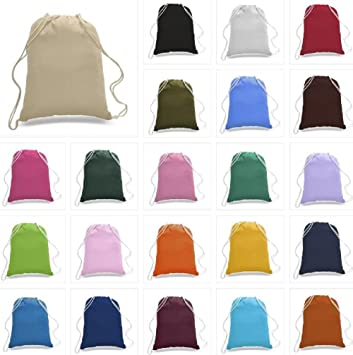 5a1758361900 14 Pack Promotional Priced Cotton Drawstring Bags Backpacks Art Craft  (Assorted)