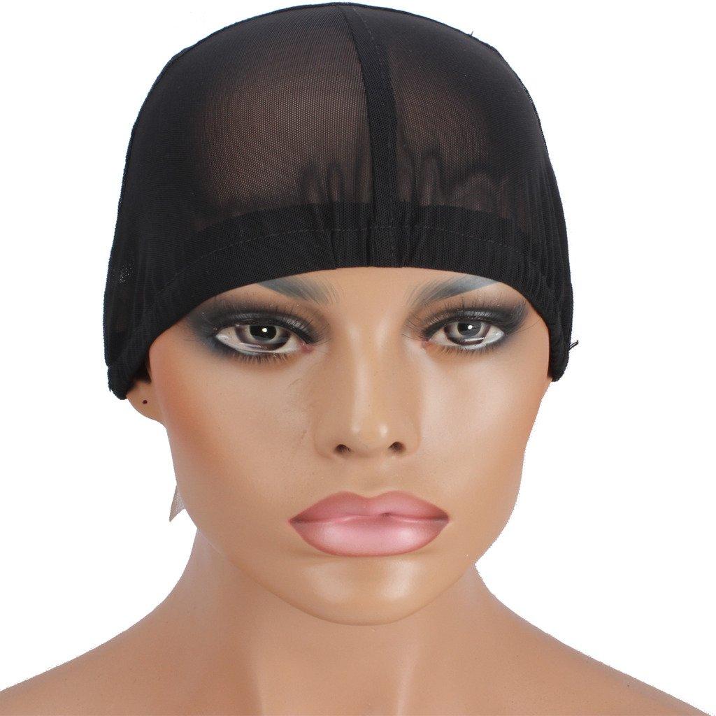 WeKen Making Wig Caps Glueless Elastic Band Stretchy Nets Q08 Small Black by WeKen