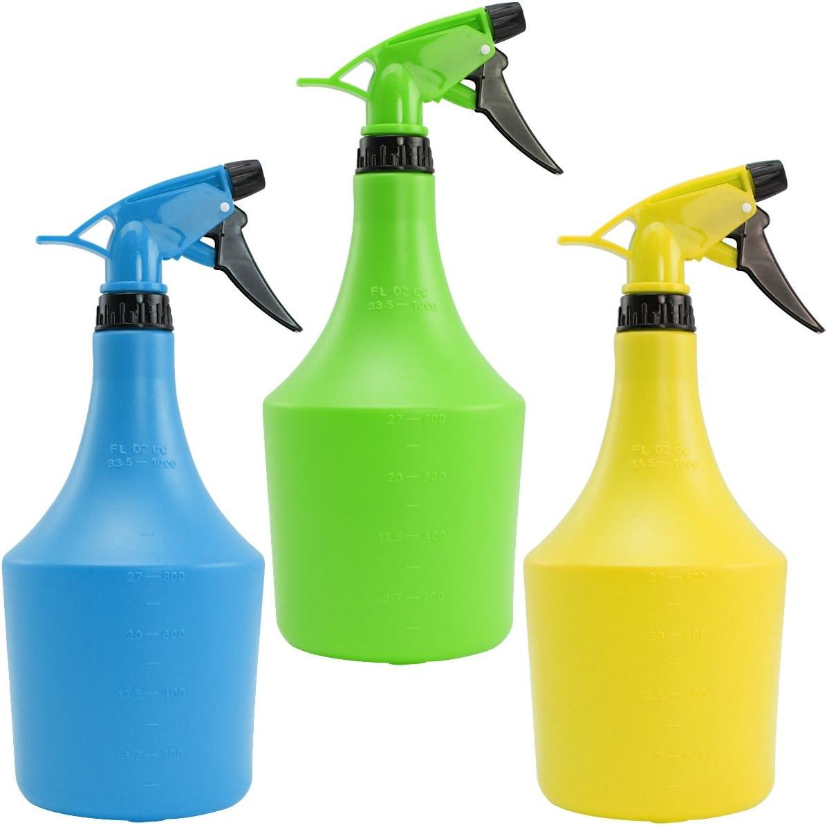 com-four® pulverizador de Flores 3X Menos 1 litro, para peluqueros o para regar Sus Plantas (03 Piezas - 1 litro)