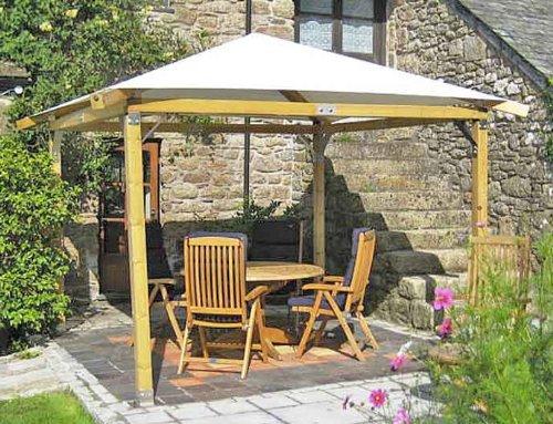 White Pavilion Gazebos: 3m x 3m (99 x 99): Garden Gazebo Hot ...