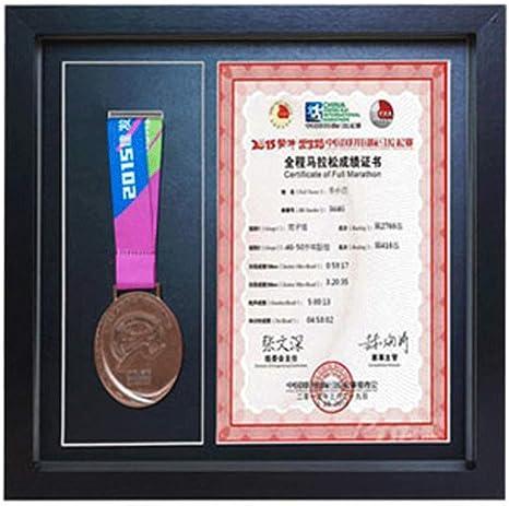 Caja expositora de medallas con puerta de cristal, caja de madera para exhibir en la pared,