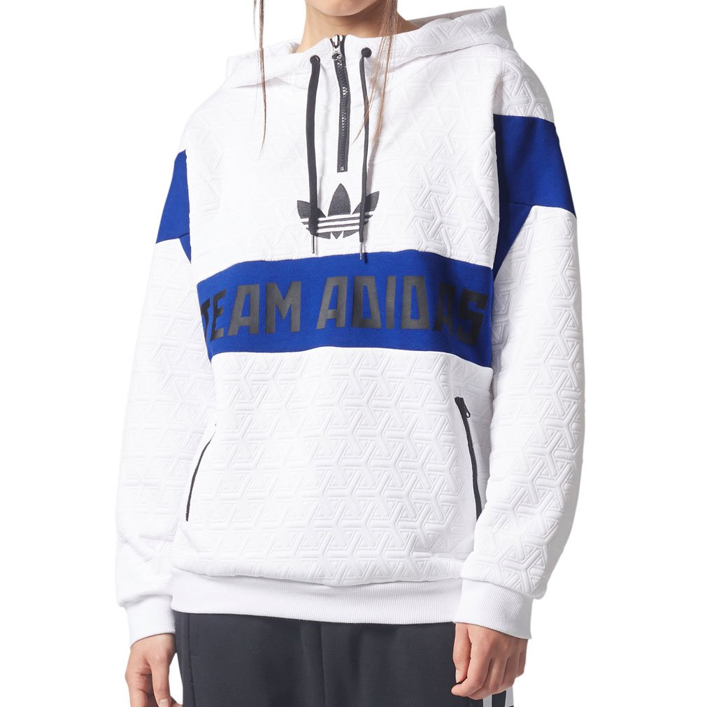 Adidas Womens Originals White Logo Hoodie BR0288