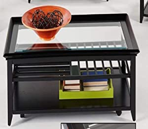 Progressive Furniture Sandpiper Castered Rect Cocktail Table, Black