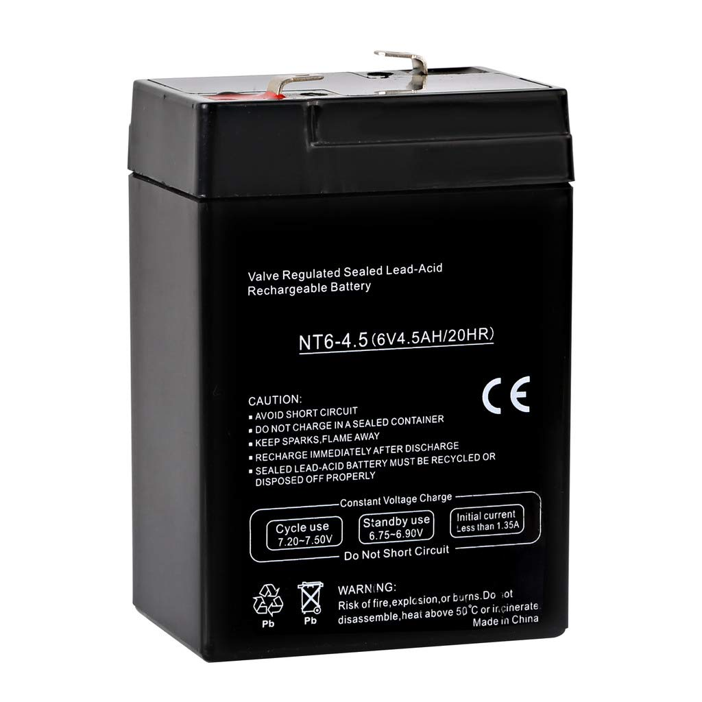 Hykolity 6V 4.5AH SLA Battery Replacement for Power Kingdom PS5-6 brand product
