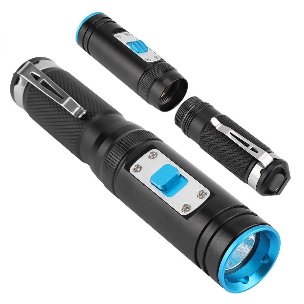 und Outdoor-Aktivit/äten Unterwassertaschenlampe L2 1300 Lumen Helle Tauchlampe mit LED-Licht f/ür Unterwasser