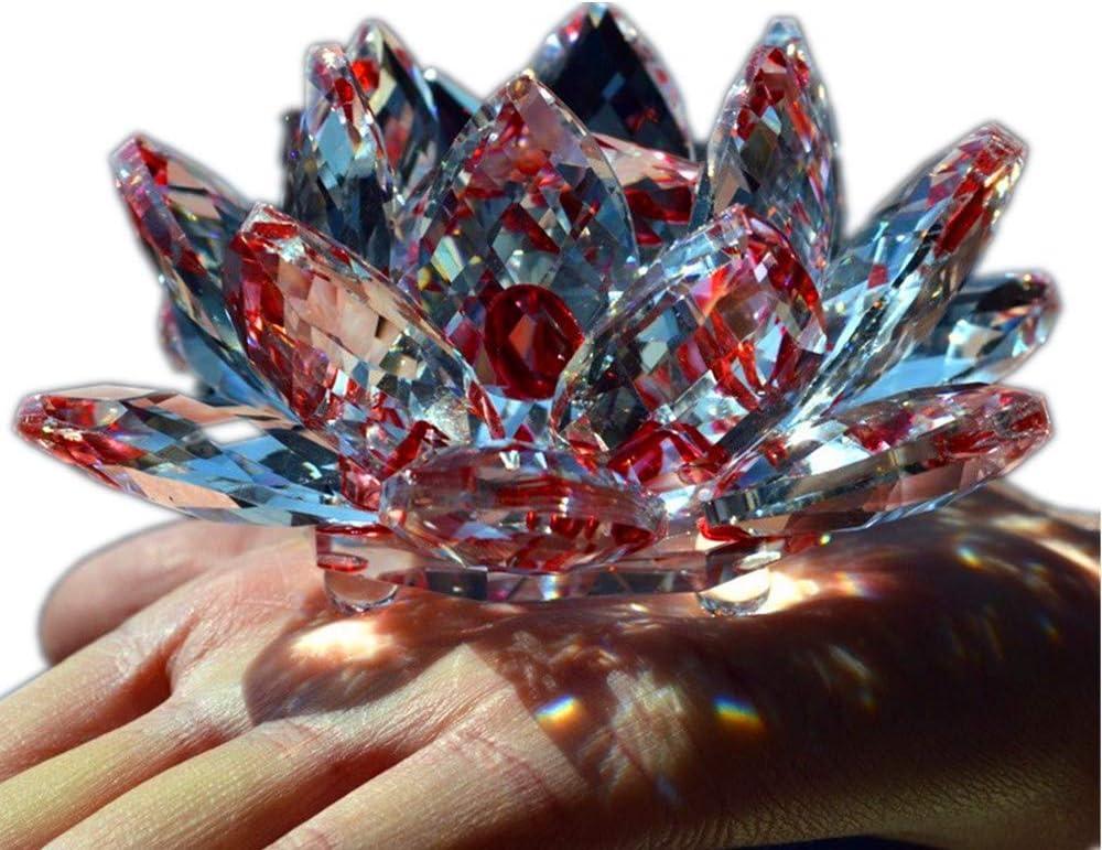TYGJB Fine Quartz Cristal Verre Fleur De Lotus Pierres Naturelles et Min/éraux Feng Shui Sph/ères Cristaux Fleurs pour Souvenirs De Mariage Violet