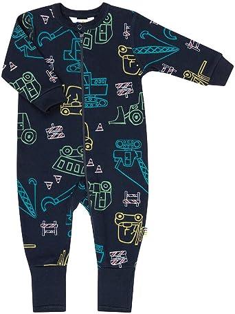 JOHA - Niño pijama bebé Pelele EDIFICIO SITE con Motivos de vehículos de construcción en azul - algodón, Azul, 100% algodón orgánico 100% algodón, bebé-niños, 50 (0-1 mes): Amazon.es: Ropa y accesorios