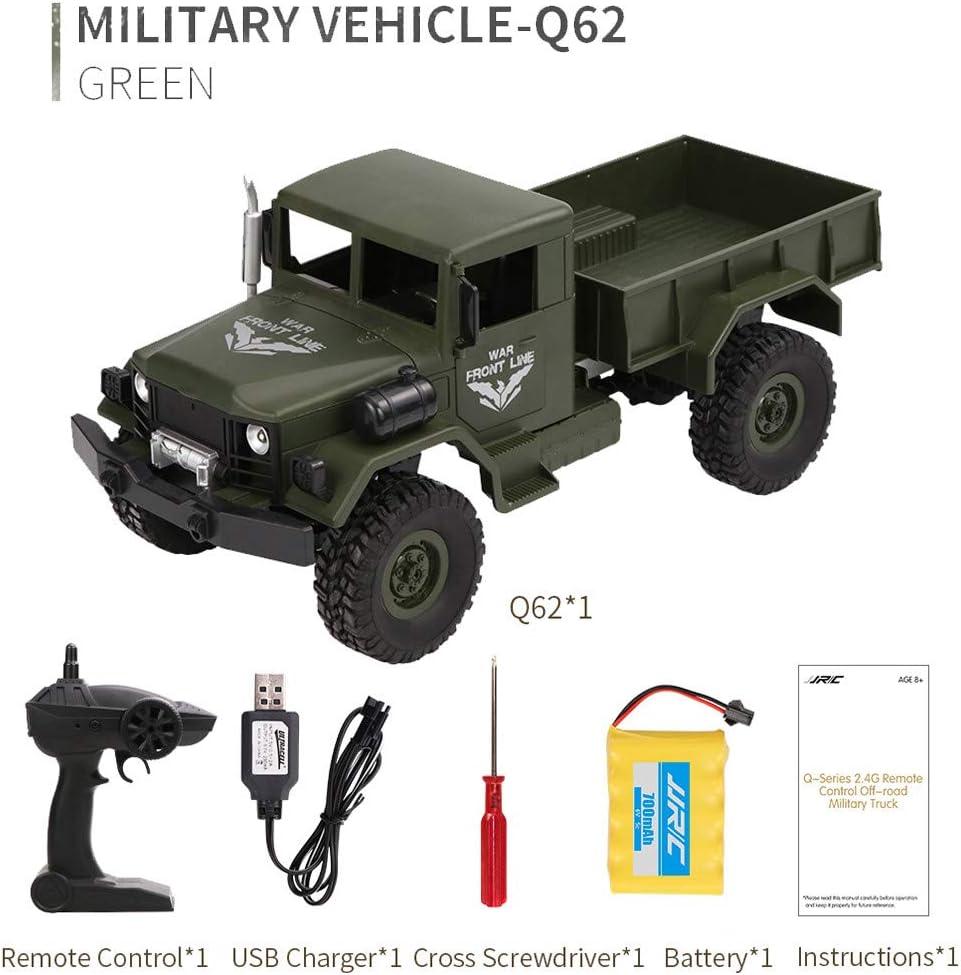 Inkach Off-Road Army RC Car 2.4Ghz 1 Remote Control Military Truck ...