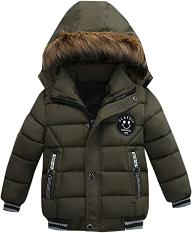 bebe Girls Long Puffer Coat Green 2T