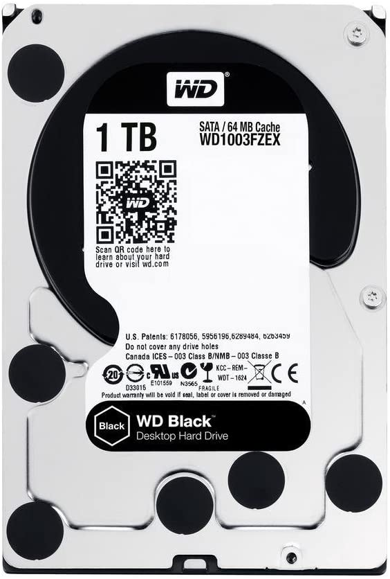"WD 1TB Black Performance Internal Hard Drive 7200 RPM SATA III 3.5"" HDD"